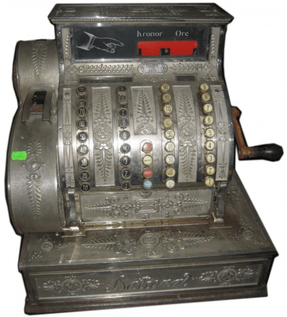 the cash register in the 19th century. - photo 1