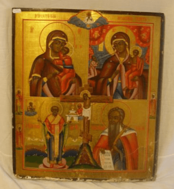 "The icon of the ""four-part"" of the XIX century - photo 1"