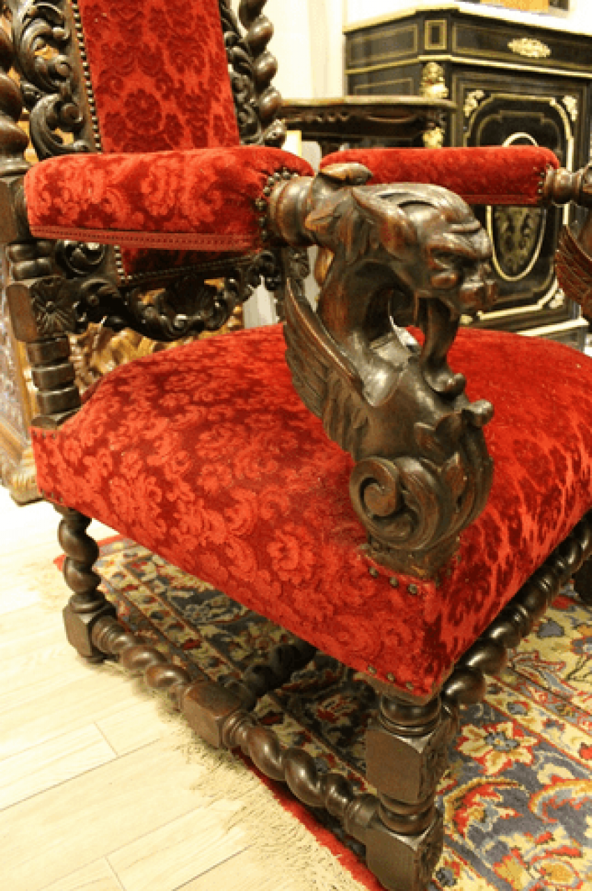 Chair carved 19th century - photo 2