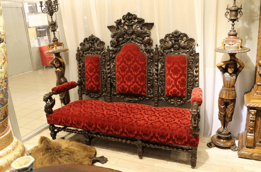 Carved sofa - photo 1