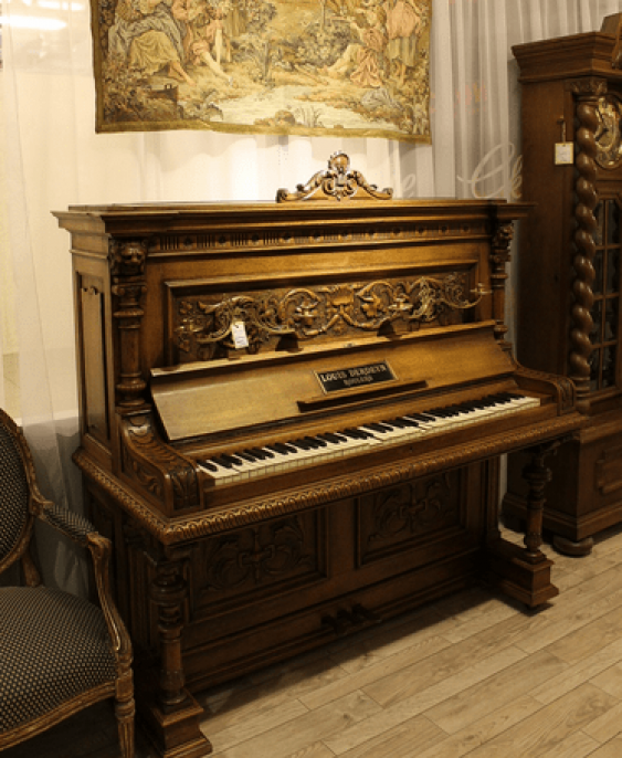 Antique piano oak - photo 1