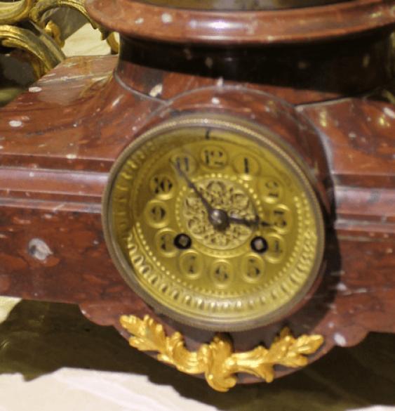 mantel clock with candelabras - photo 5
