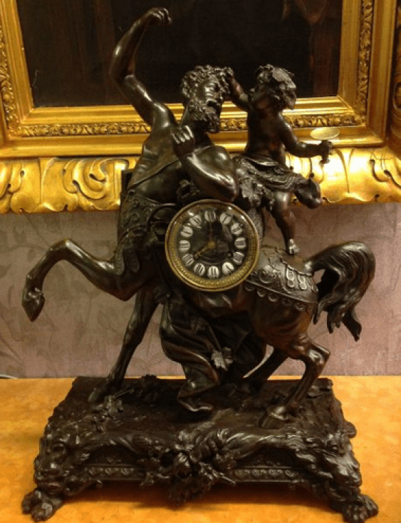 Mantel clock the 19th century Spitr - photo 1