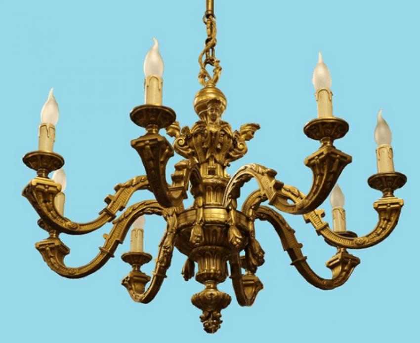 Bronze chandelier 19th century - photo 1