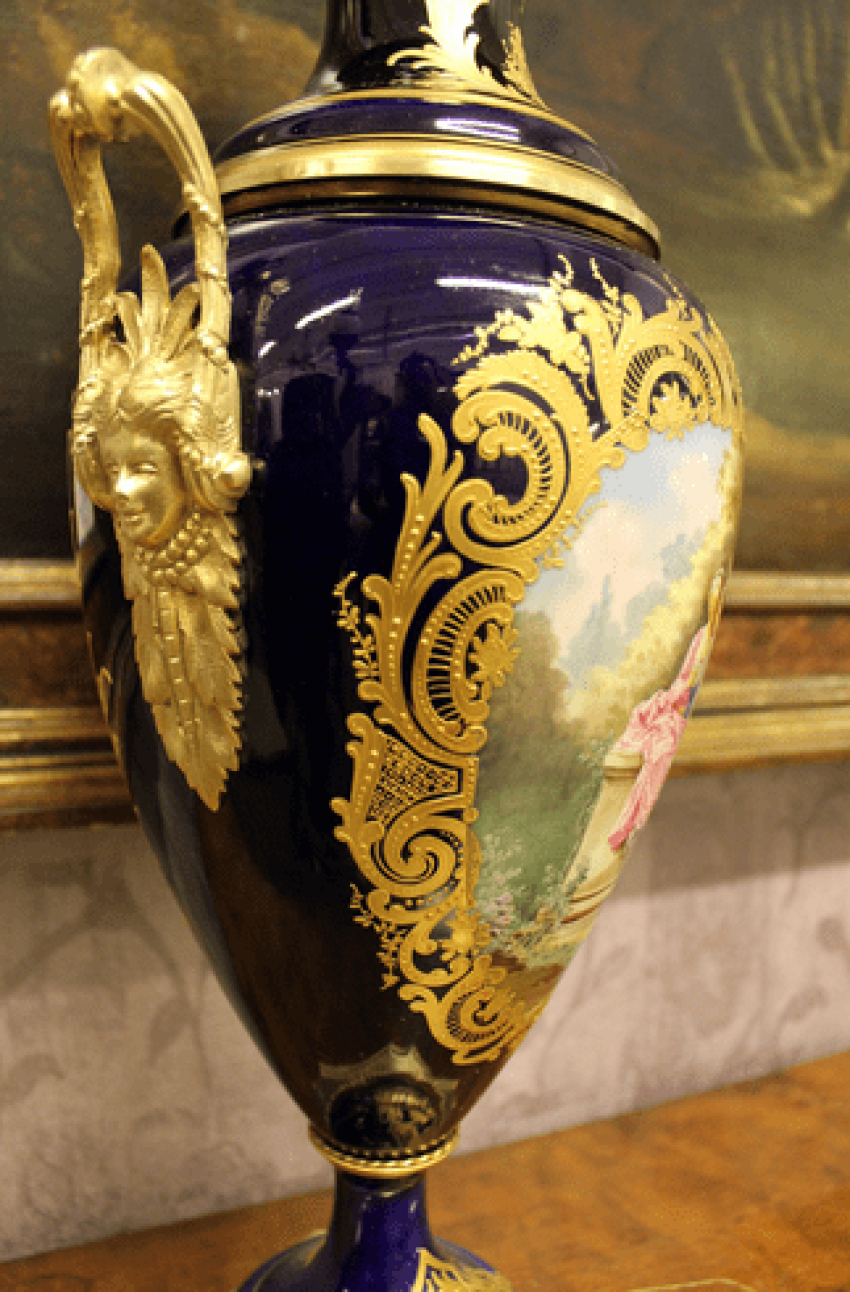 Pair of French vases 19th century - photo 5