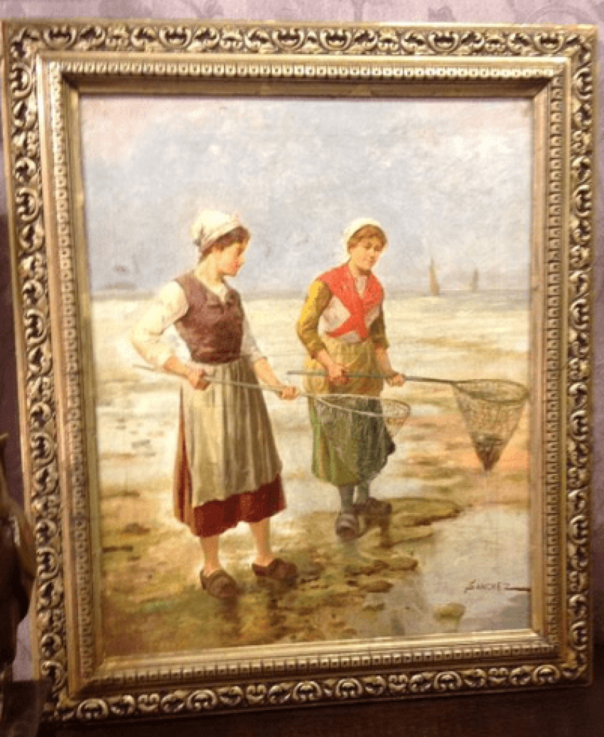 """The painting """"mussel Collectors."""" - photo 4"""