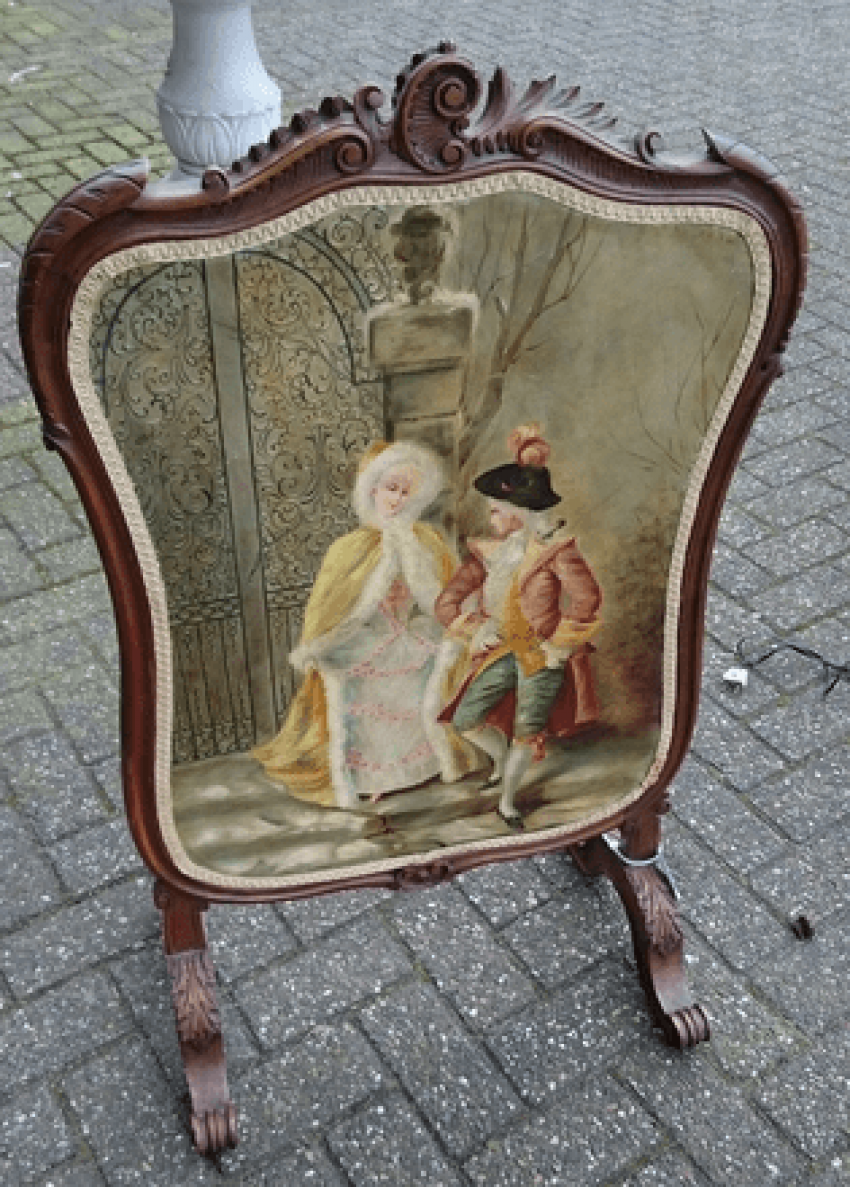 Fire screen 19th century. - photo 2