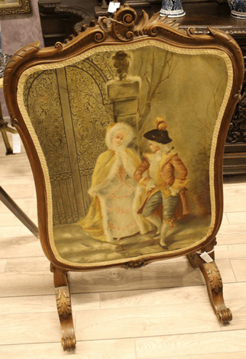 Fire screen 19th century. - photo 1