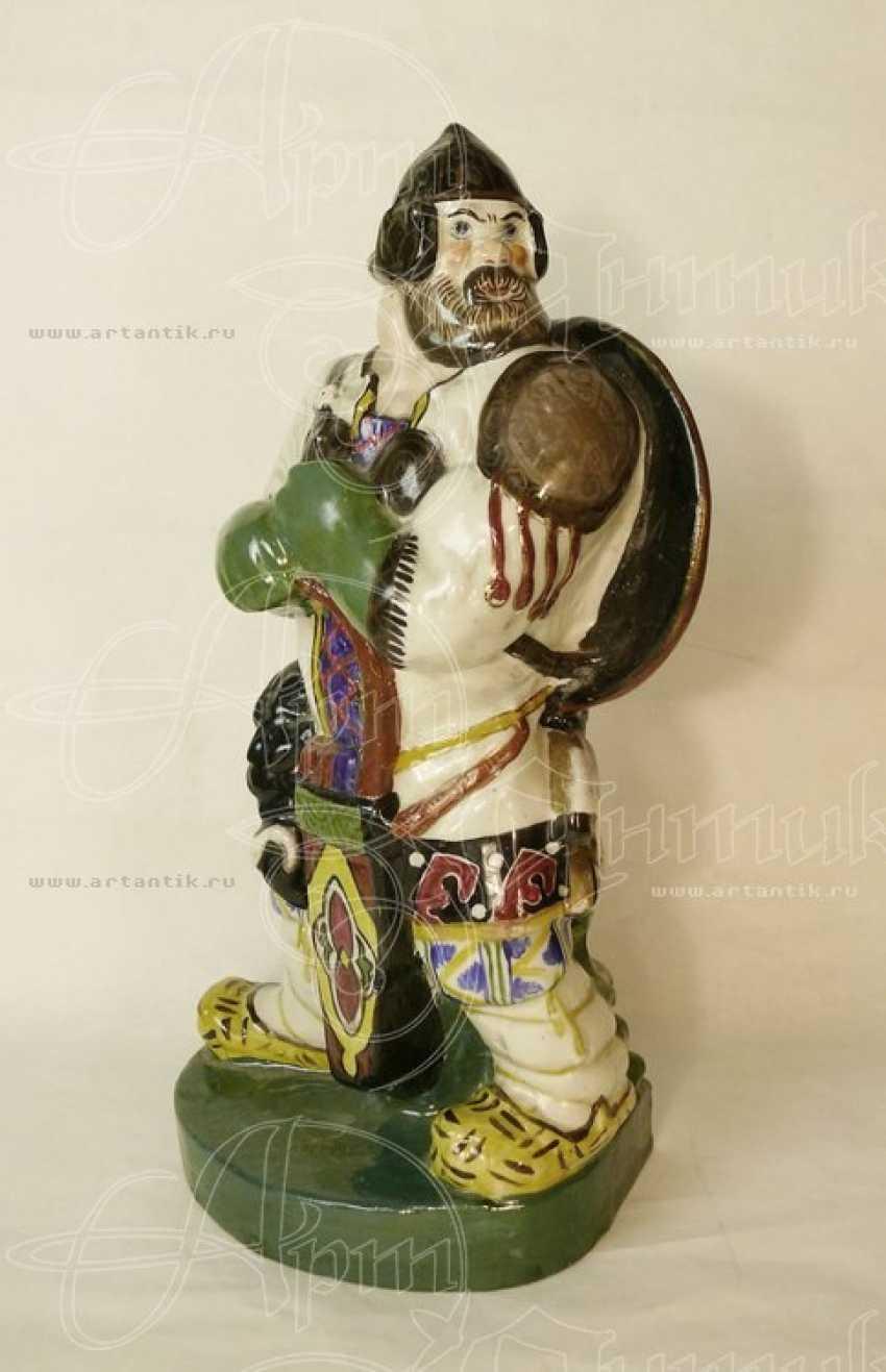 """Skulptur (Buchstütze) """"der Recke"""" - Foto 1"""