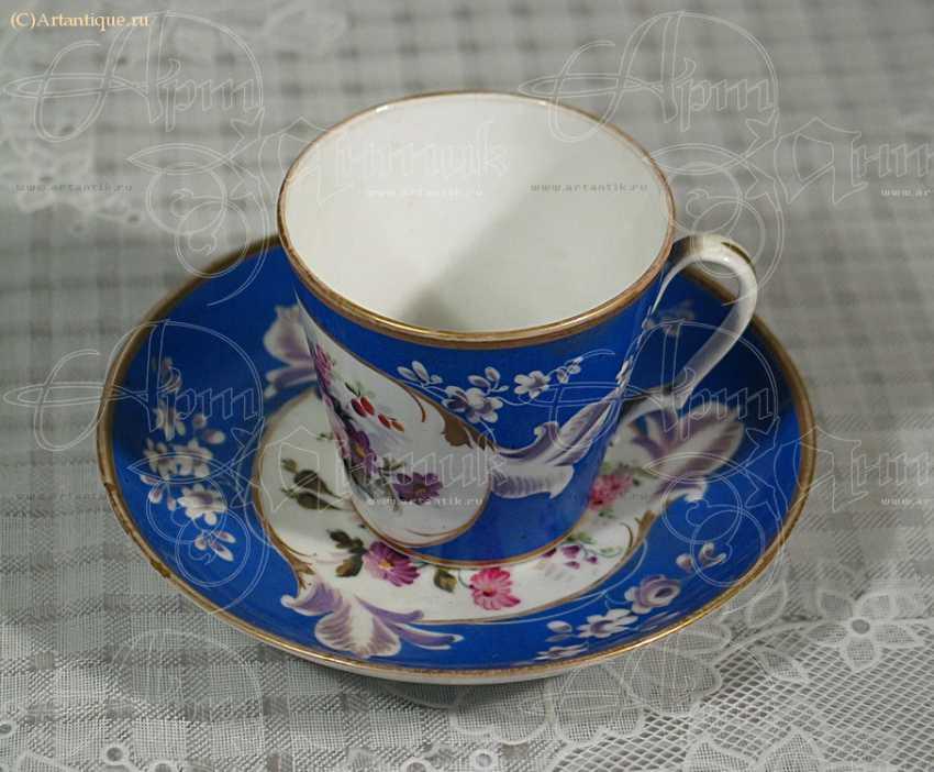 Чашка с блюдцем - photo 1