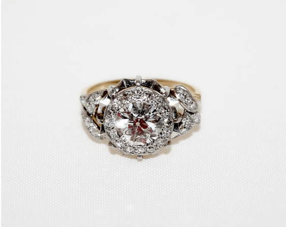 Ring with diamonds - photo 2
