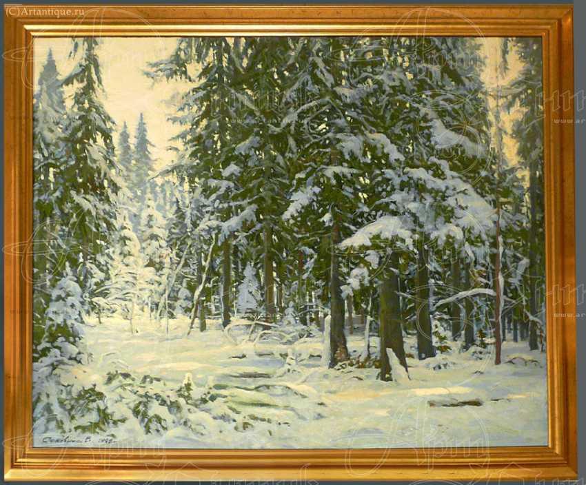 """Картина """"Зима в лесу"""" - photo 1"""