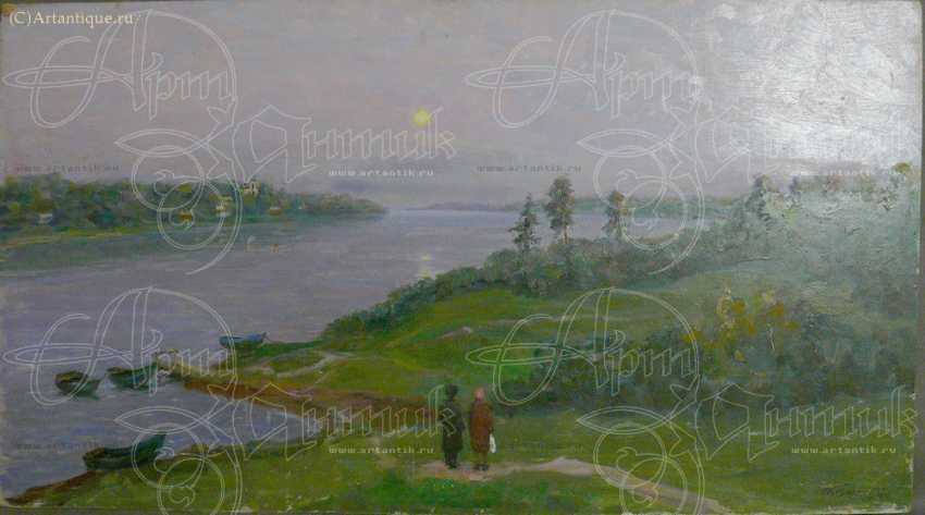 "Картина ""На берегу реки"" - photo 2"