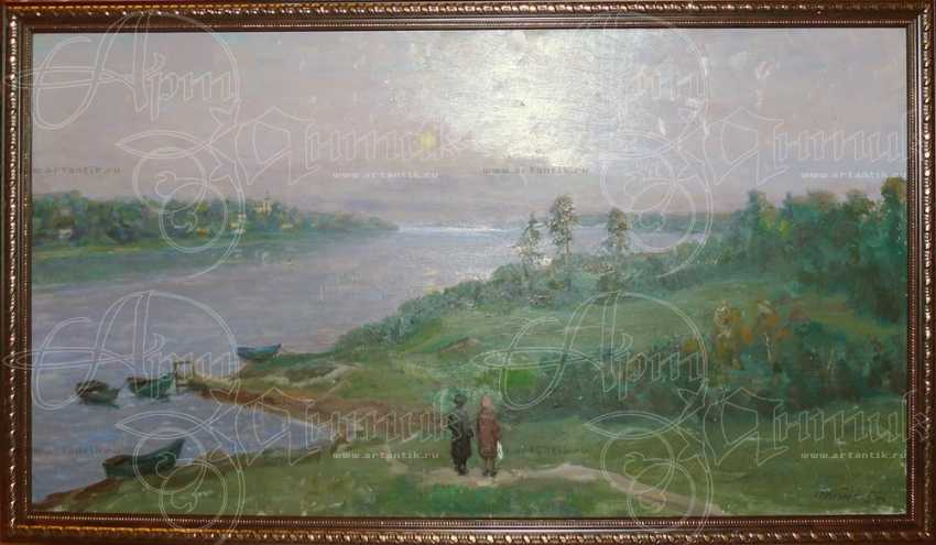 "Картина ""На берегу реки"" - photo 1"