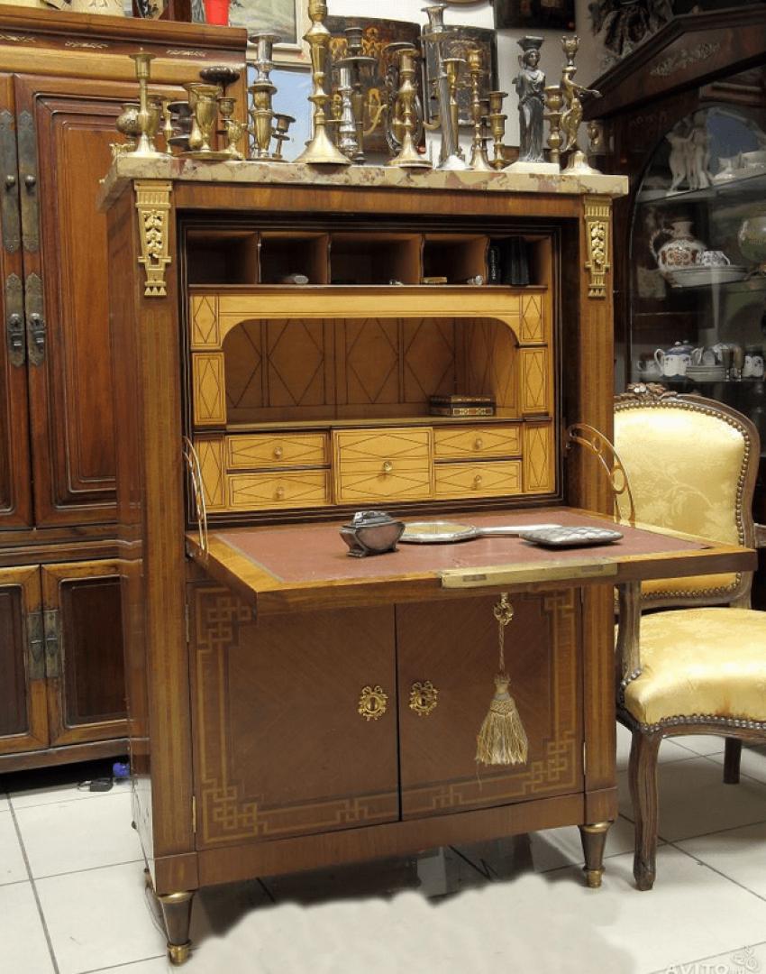 Antique Bureau .England 1850 - photo 4
