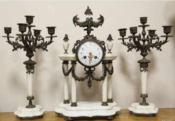 Часы каминные Париж 1900г - photo 1