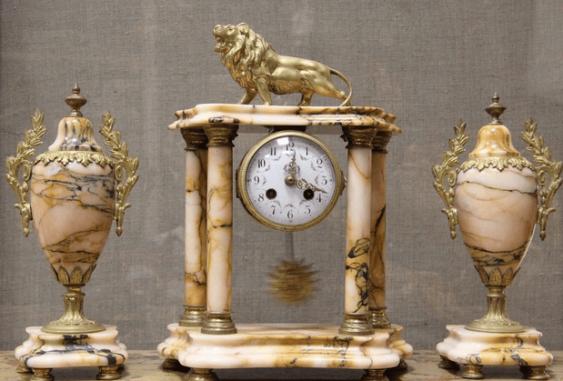 Часы каминные бронза Франция 1880 - photo 1