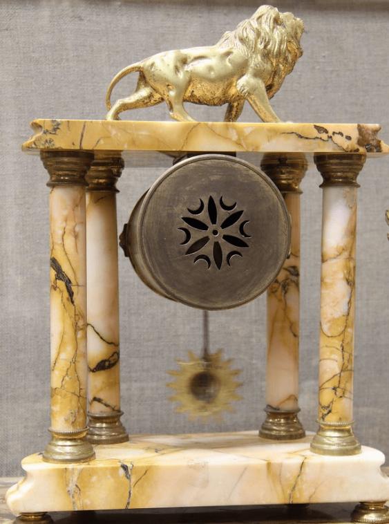 Часы каминные бронза Франция 1880 - photo 2