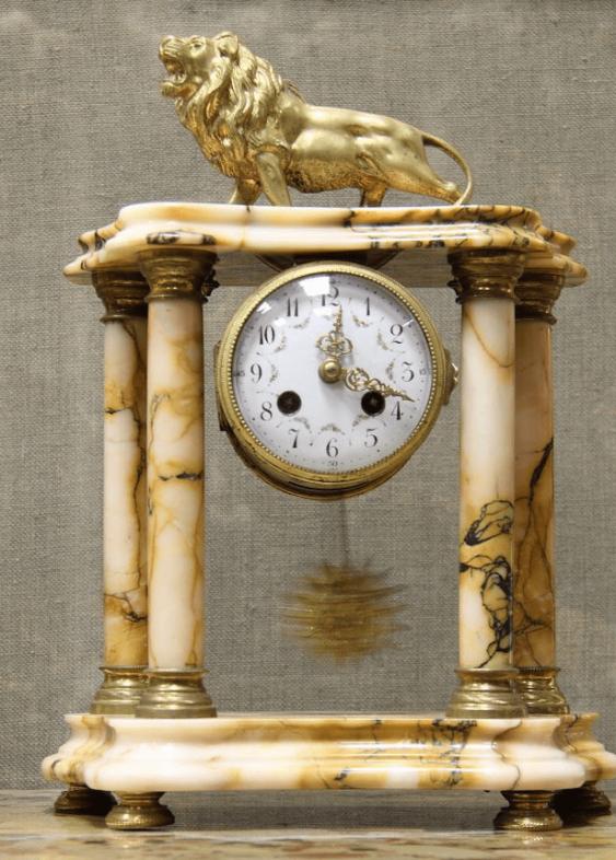 Часы каминные бронза Франция 1880 - photo 3