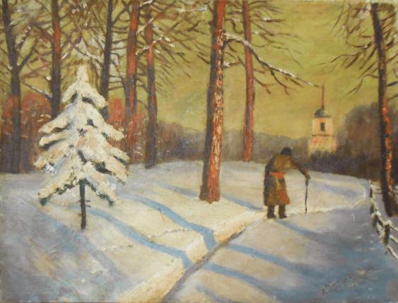 зимний пейзаж Конец 19- 20-го в - photo 1