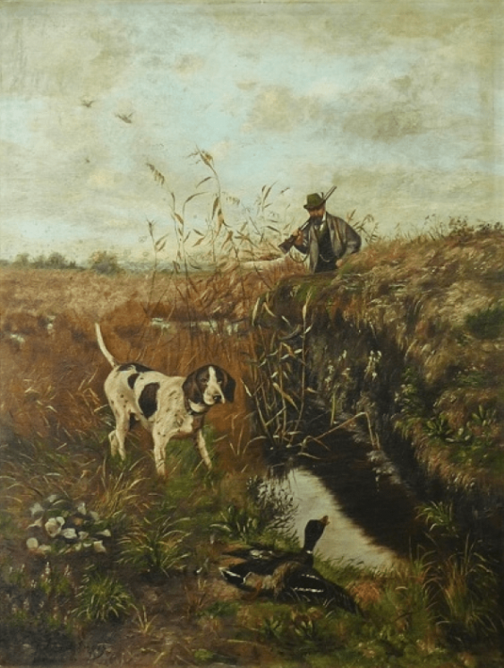 Hunting Baudelaire M 19vek Landscape - photo 1