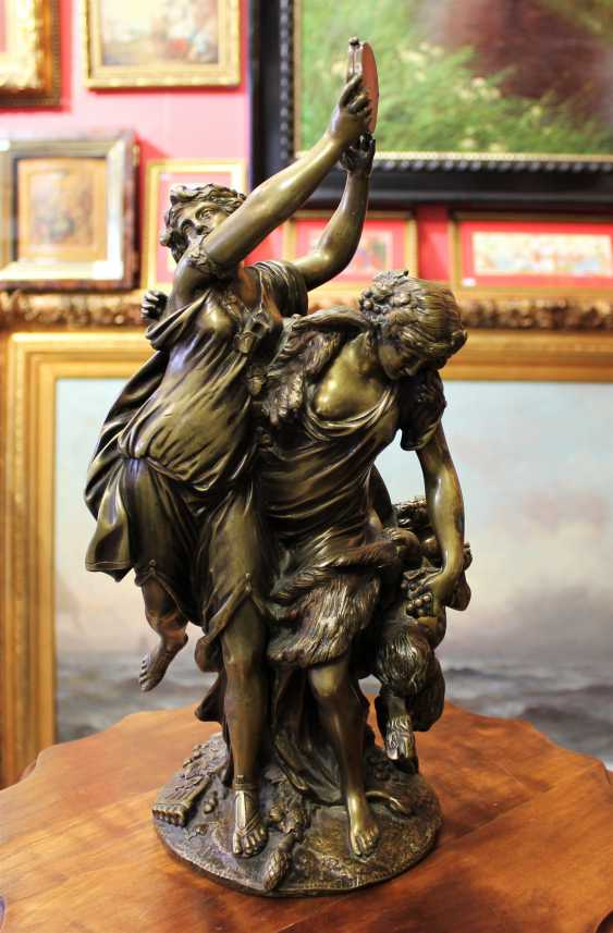 "Bronze sculpture ""Dancing Bacchante and Faun"", 1762. - photo 1"