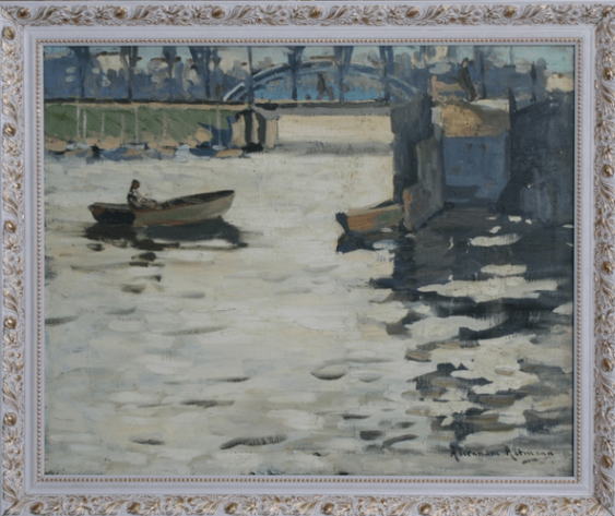 Barges on the river.Altman, Alexander - photo 1