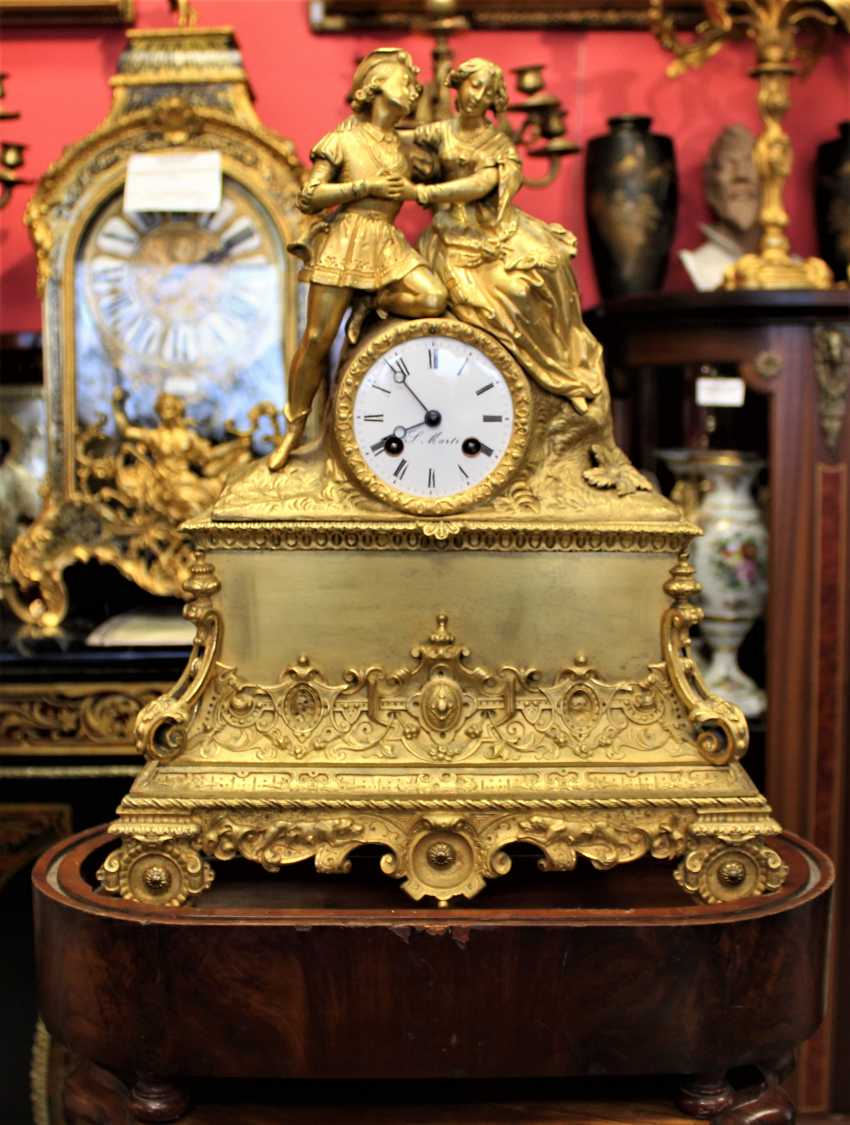 "Mantel clock ""Declaration of love"" 19th century - photo 1"