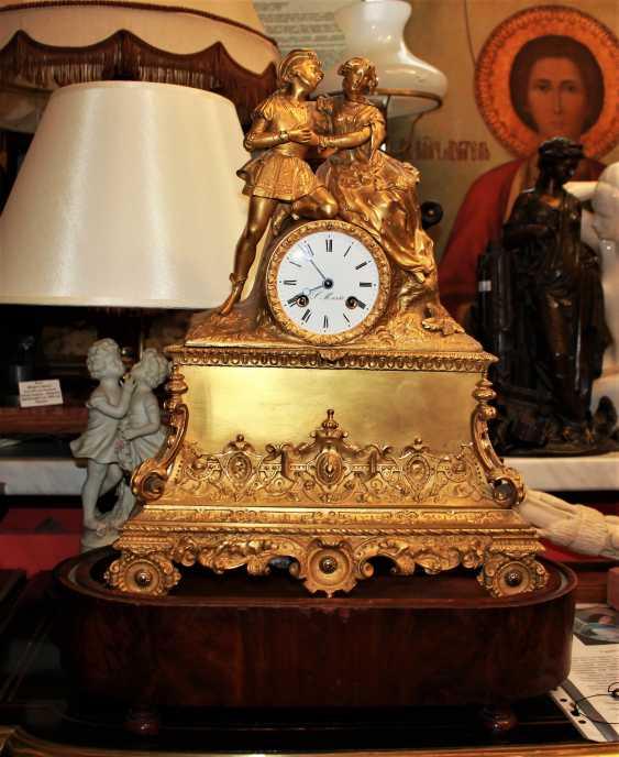 "Mantel clock ""Declaration of love"" 19th century - photo 4"