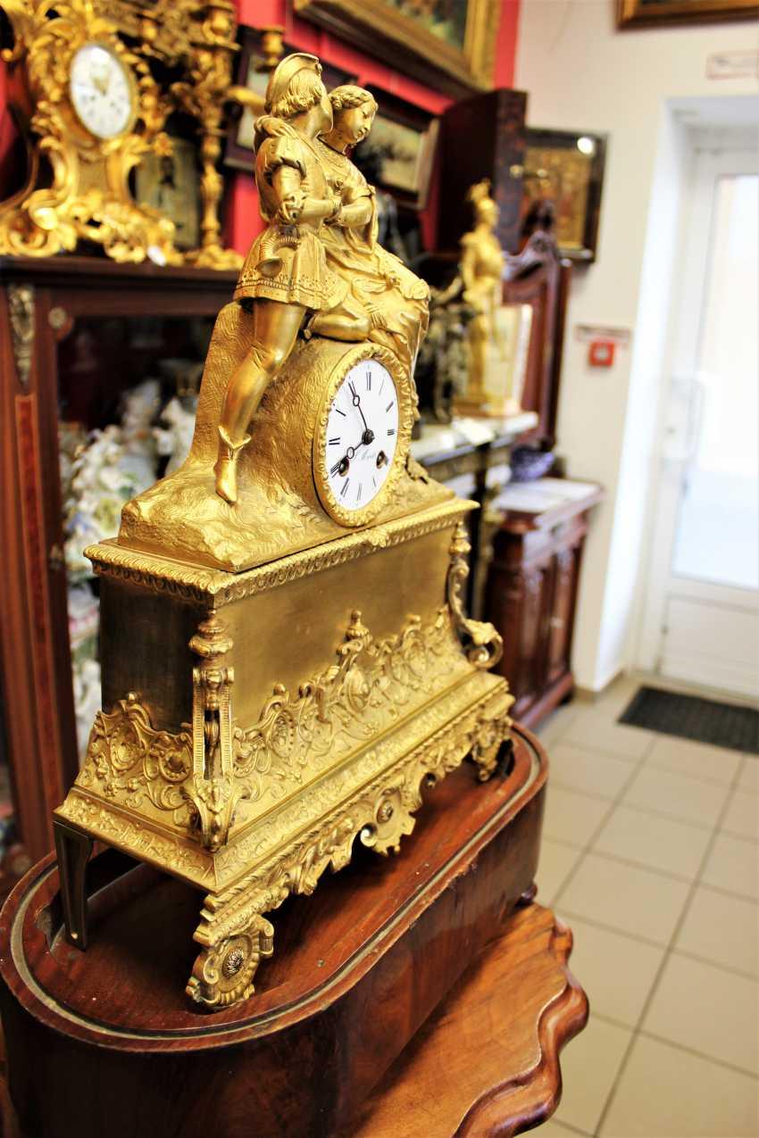 "Mantel clock ""Declaration of love"" 19th century - photo 3"
