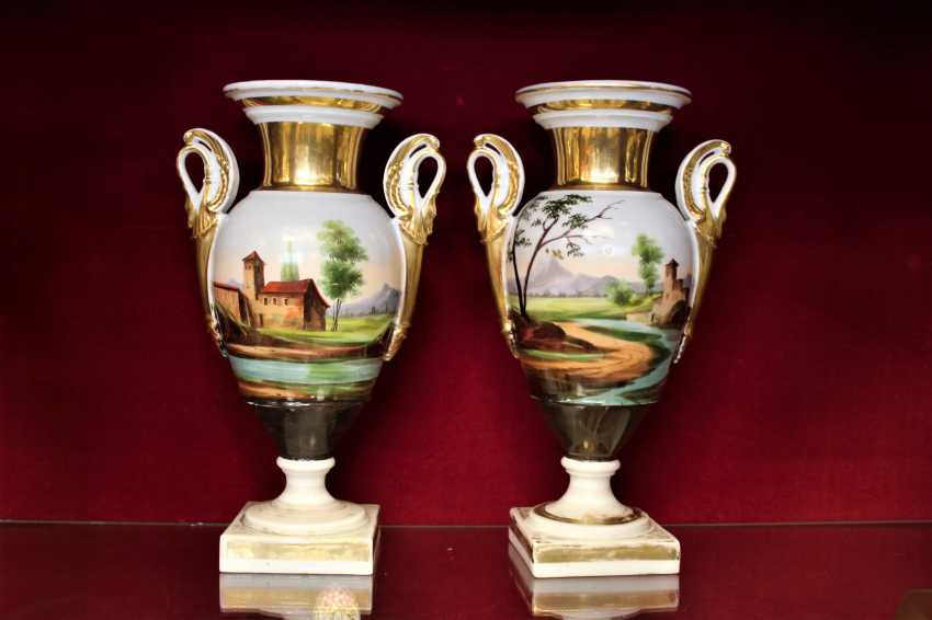Vases pair of XIX century - photo 1