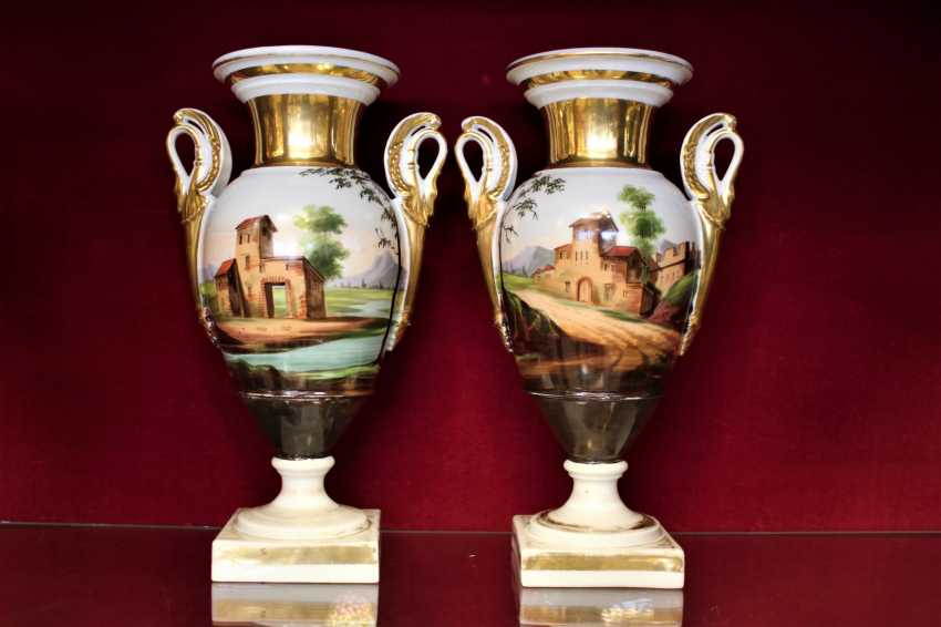 Vases pair of XIX century - photo 2