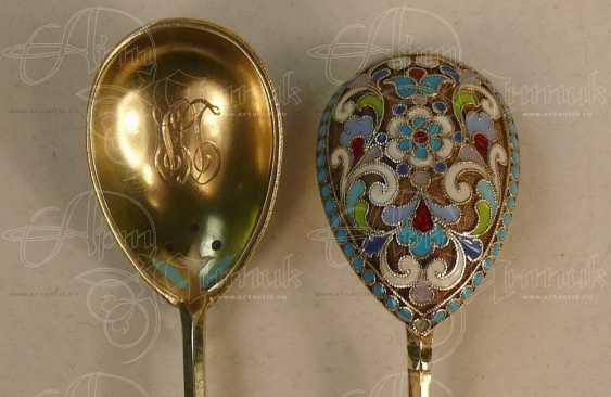 A set of spoons with double sided enamel - photo 2