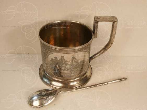 "Cup holder ""Troyka"" with a spoon - photo 1"