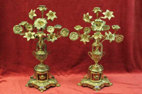 A pair of candlesticks, XIX century - photo 1