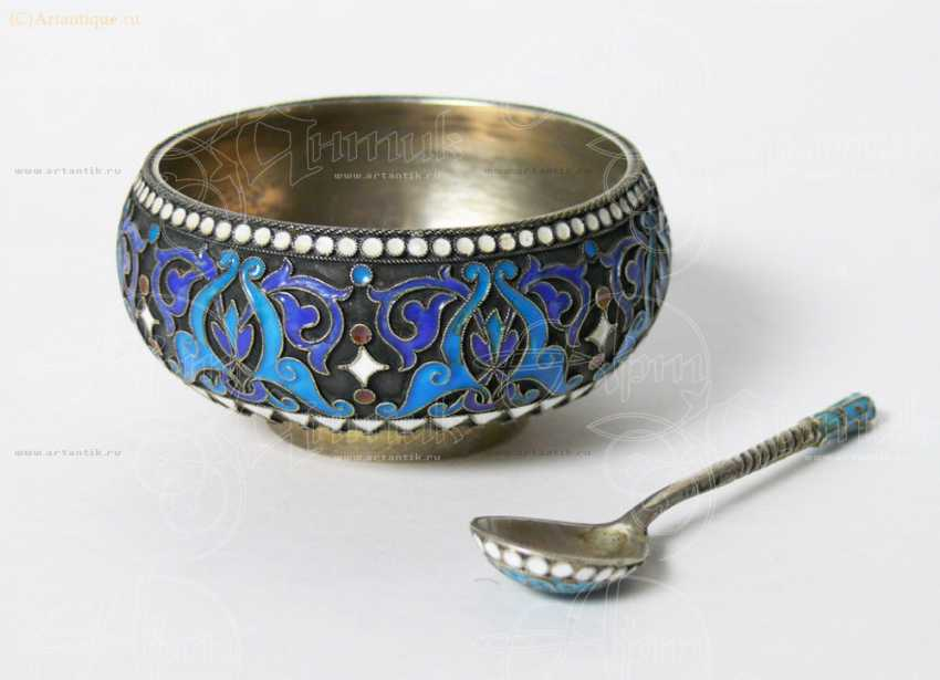 Saltcellar with spoon - photo 1
