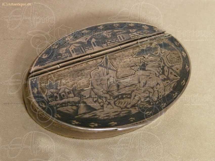 Snuff box oval - photo 1