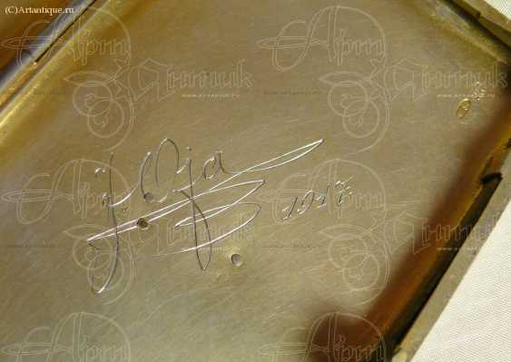 Cigarette case with gold lining - photo 4