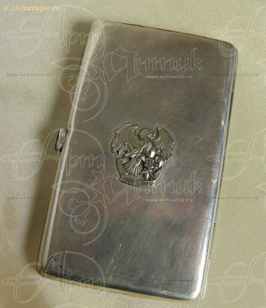 Cigarette case with gold lining - photo 3