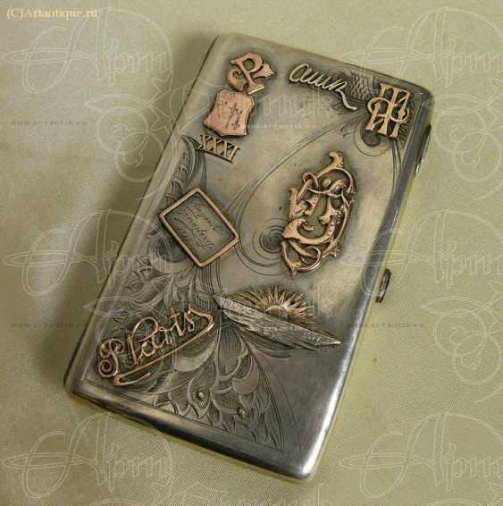 Cigarette case with gold lining - photo 1