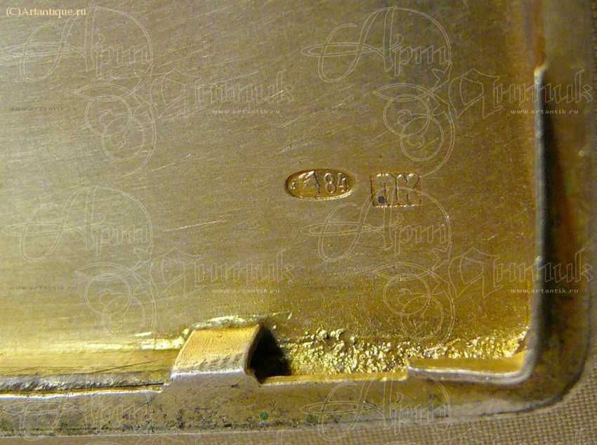 Cigarette case with gold lining - photo 6