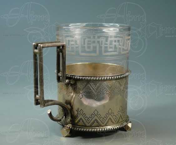 Cup holder on three legs with a glass - photo 2