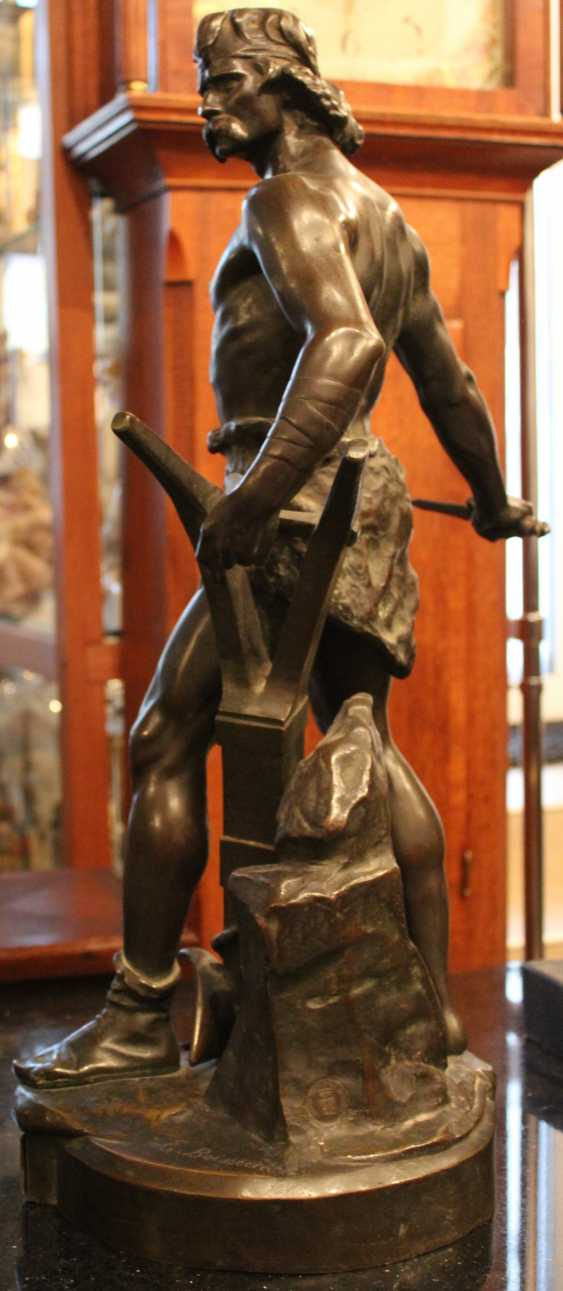 "The sculpture ""Warrior with sword and plow ""ENSE and'ARATRO"""", XIX-XX century - photo 3"