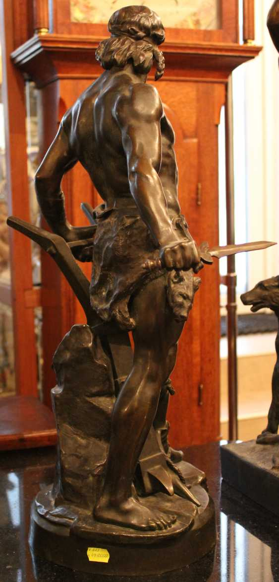 "The sculpture ""Warrior with sword and plow ""ENSE and'ARATRO"""", XIX-XX century - photo 4"