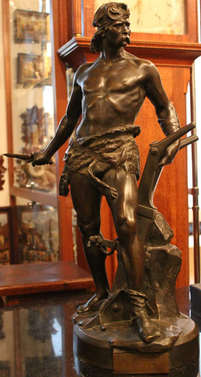 "The sculpture ""Warrior with sword and plow ""ENSE and'ARATRO"""", XIX-XX century - photo 1"