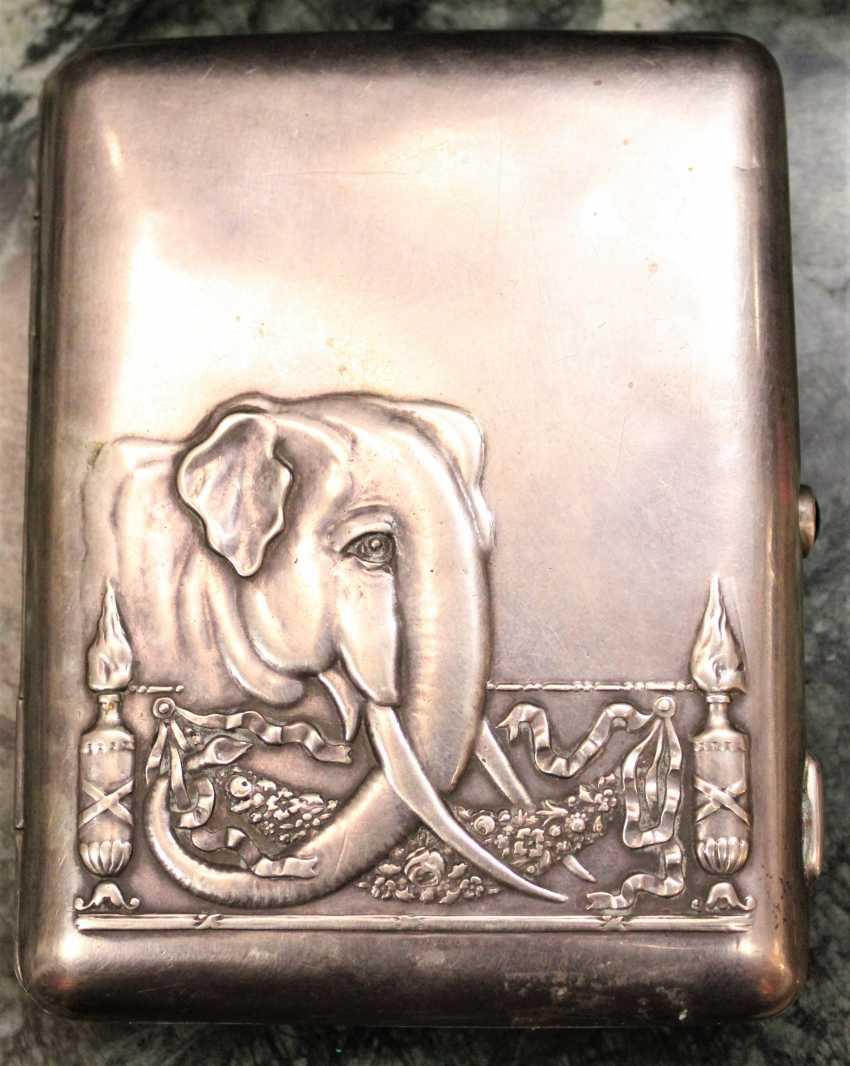 Silver cigarette case, XIX century - photo 1
