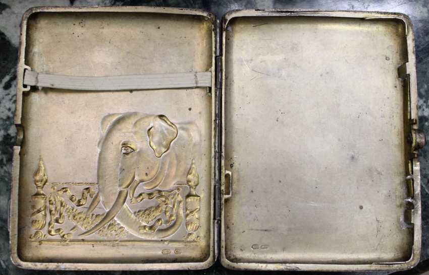 Silver cigarette case, XIX century - photo 3