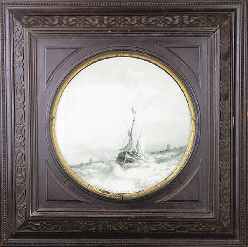 """""""Sailing vessels in a stormy sea,"""" A. Bogolyubov - photo 1"""