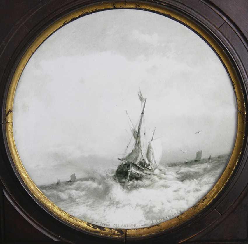 """""""Sailing vessels in a stormy sea,"""" A. Bogolyubov - photo 2"""