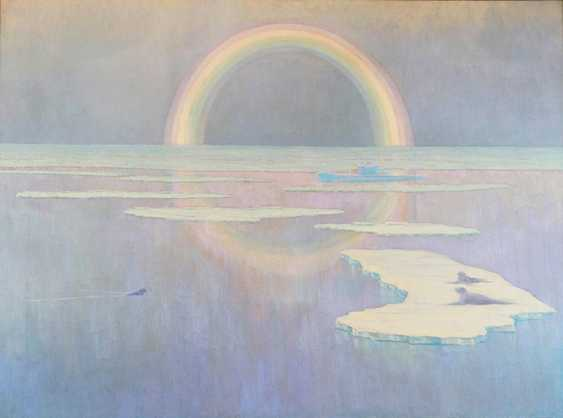 """White rainbow"". A. Merkulov, 1957 - photo 1"